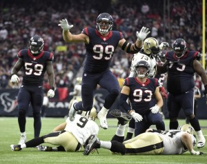 Drew Brees sacked by J.J. Watt.