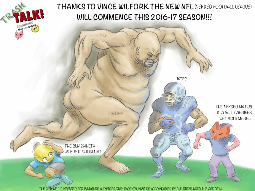 Trash Talk - Vince Wilfork with Caption