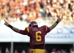 cody-kessler-at-usc Robert Gauthier / Los Angeles Times – Kessler's USC 7-touchdown record, defeating Colorado (56-28)
