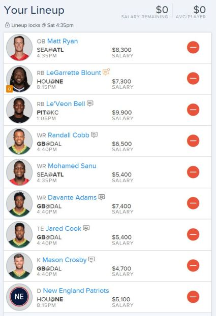 FanDuel Divisional Playoff Picks -1