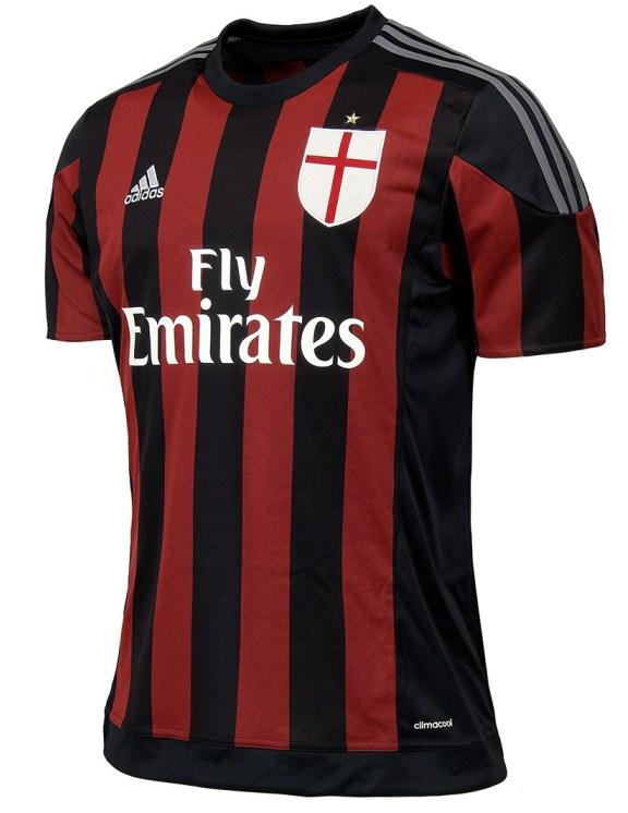 New Ac Milan Home Jersey 20152016 & Goalkeeper Kit 2015