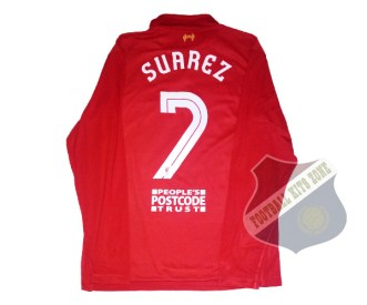 Liverpool Home 2013-14 Long Sleeve | #7 SUAREZ