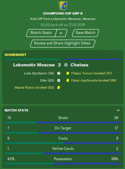Lokomotiv Moscow match