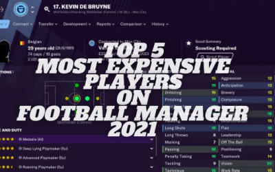 Top 5 Most Expensive Players in Football Manager 21
