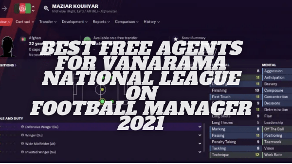 Best Free Agents For Vanarama National League And North/South