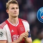 Paris Saint-Germain Set To Win Race For Matthijs De Ligt