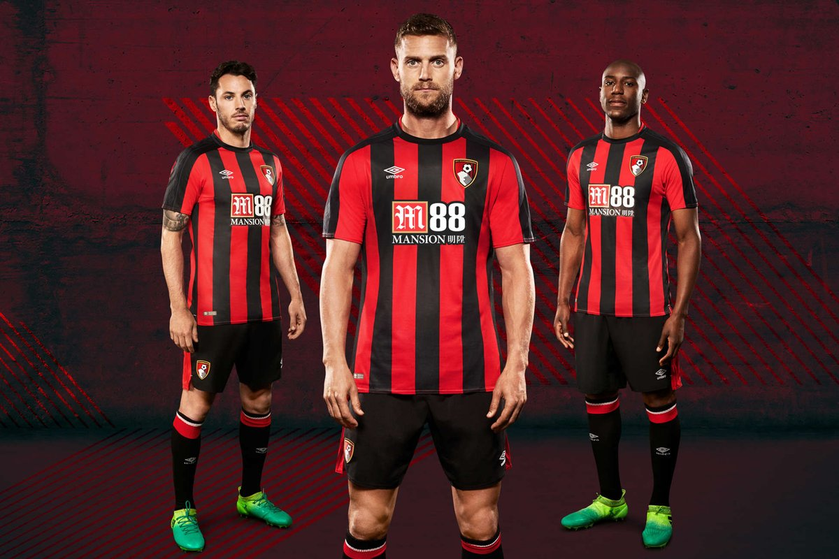 New AFC Bournemouth Home Shirt 2017-18 – Football on the