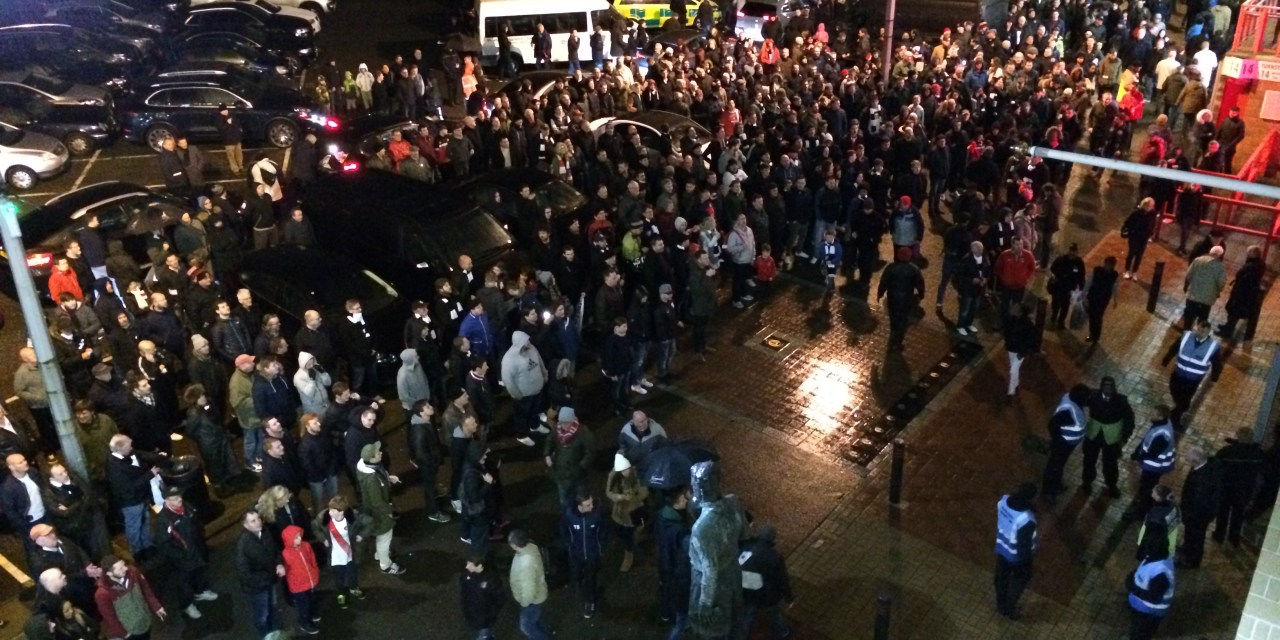 Change is on the menu at the Valley –  a night of protests at Charlton Athletic