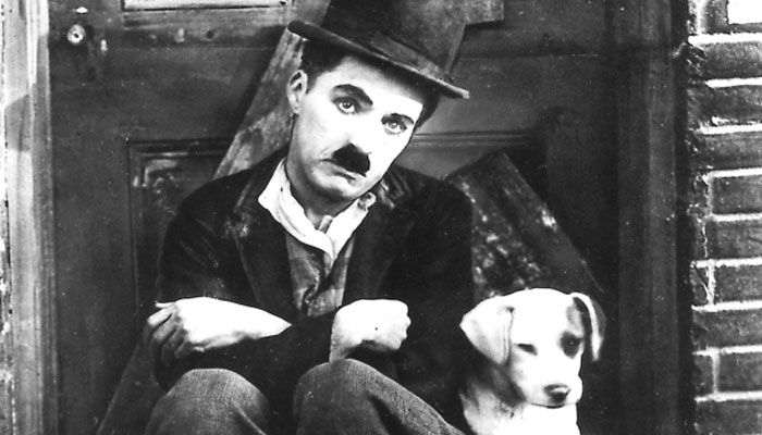 Charlie Chaplin and Stiffy the Goalkeeper