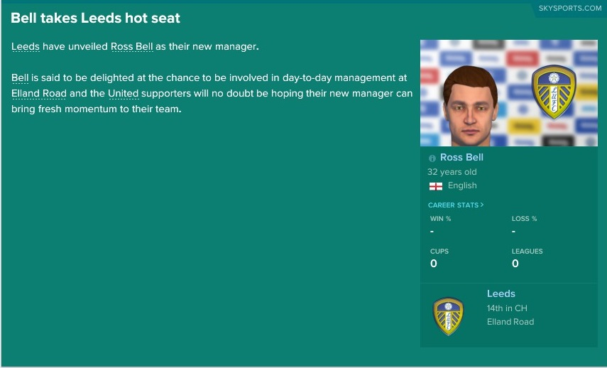 The Football Pink Football Manager challenge – Leeds United and Mission Improbable