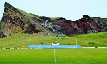 Football on Iceland's volcanic island of Heimaey