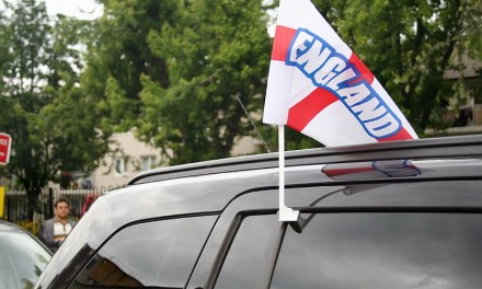 England: Hope, heartache and flags on car windows