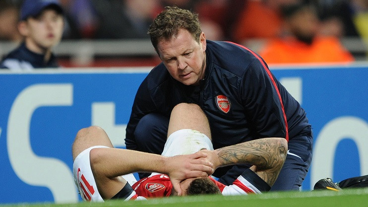 The brutality of football for the physios