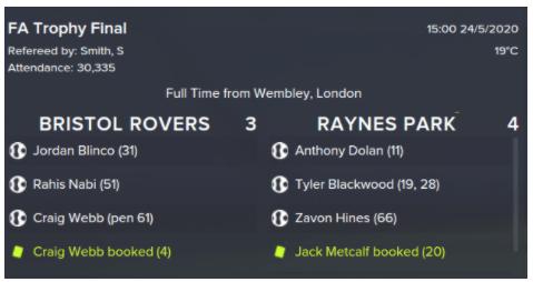 Raynes Park Vale Football Manager