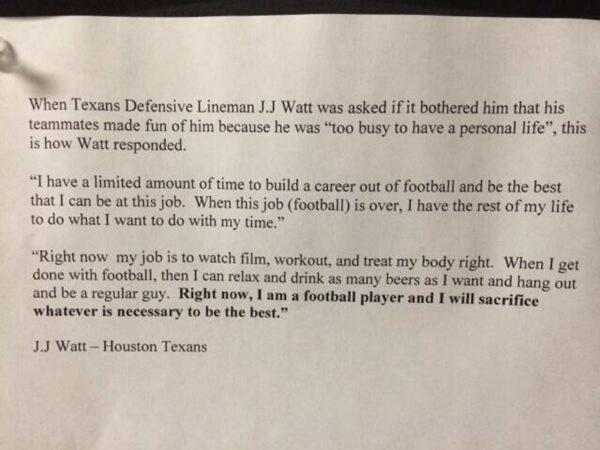 J.J. Watt\'s quote that your team needs to see - FootballScoop