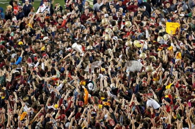 NCAA Football: Southern California at Boston College