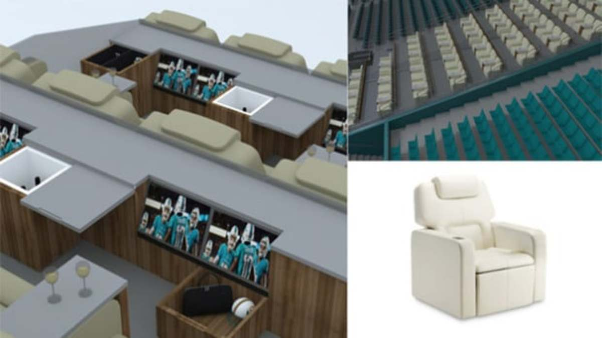 The Miami Dolphins are bringing your living room to the stadium