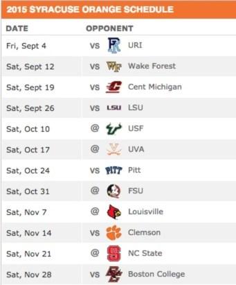 Syracuse2015Schedule