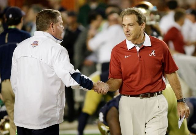 Brian Kelly Nick Saban