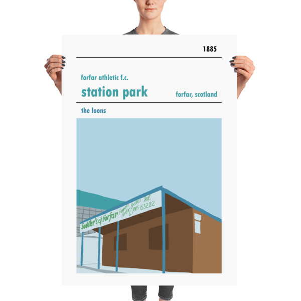 A massive football poster of Station Park, Forfar Athletic FC