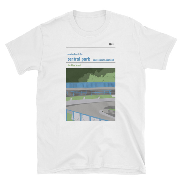 A white t-shirt of Central Park and Cowdenbeath FC