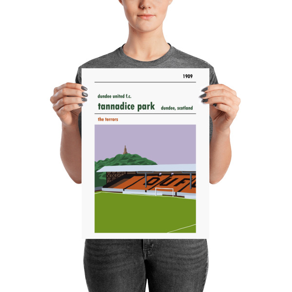 A medium sized stadium poster of Tannadice, home to Dundee United FC.