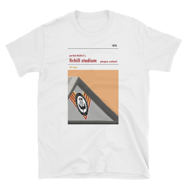 A t shirt of Firhill, home to Partick Thistle. The Colin Weir stand.