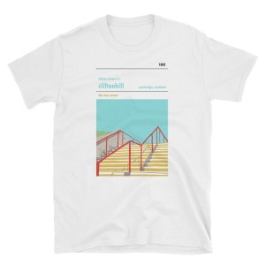 A white t-shirt of Cliftonhill and Albion Rovers FC