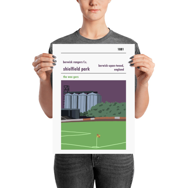 A medium sized stadium poster of Shielfield Park, Berwick Rangers FC