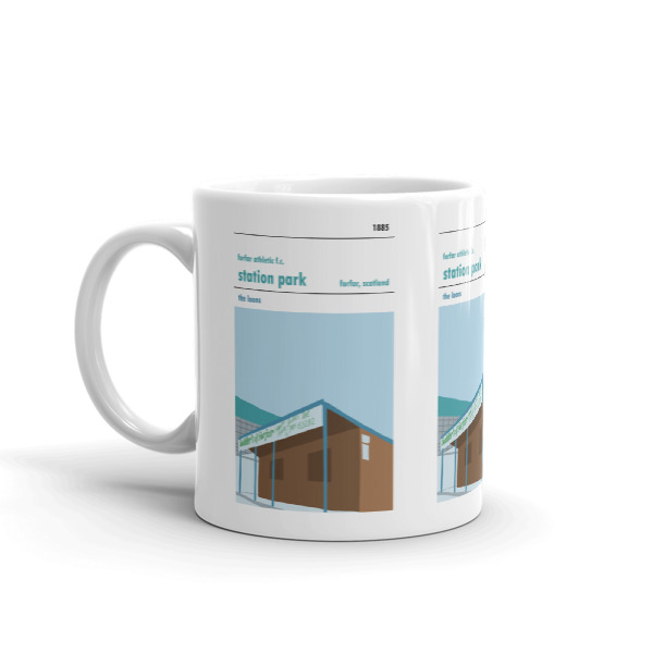 A coffee mug of Station Park and Forfar Athletic FC