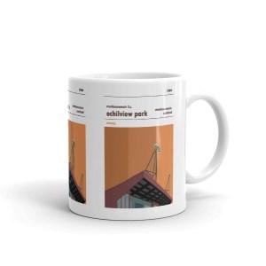A coffee mug of Ochilview and Stenhousemuir FC