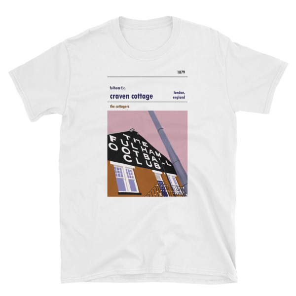 A t-shirt of Craven Cottage, the home of Fulham FC