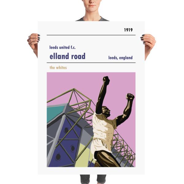 Massive football poster of Elland Road and Leeds United FC
