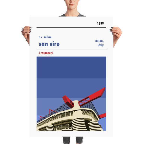 Massive football poster of the San Siro and AC Milan