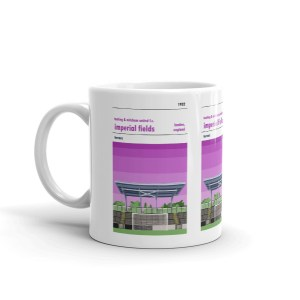 A coffee mug of Tooting and Mitcham and the Bog End
