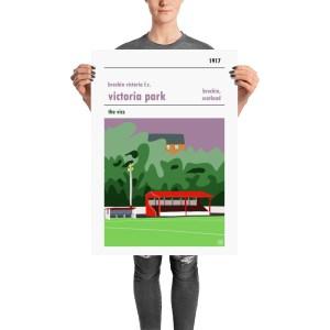 A retro Brechin Vics FC and Victoria Park Scottish football poster