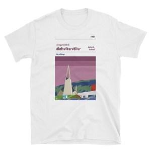 A white t shirt of Víkingur Ólafsvík