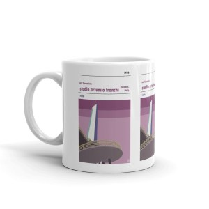 A coffee mug of Fiorentina FC and Stadio Artemi Franchi