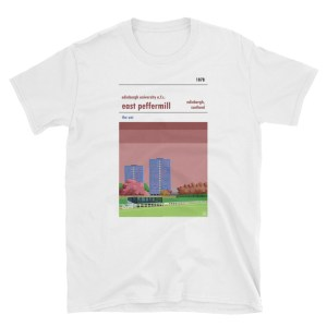 An Edinburgh University white t shirt of East Peffermill