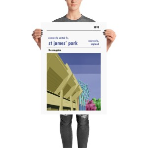 Football Stadium Poster of St James' Park and Newcastle United