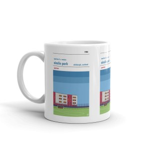 A coffee mug of Ainslie Park and Spartans Women FC