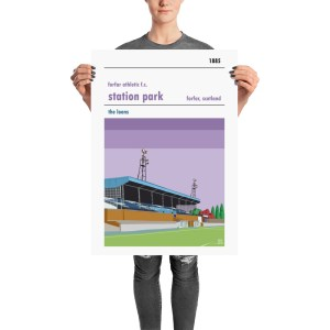 A stadium poster of Forfar Athletic FC and Station Park