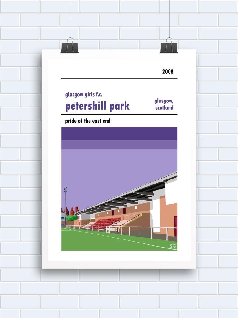 Petershill Park Glasgow Girls Print