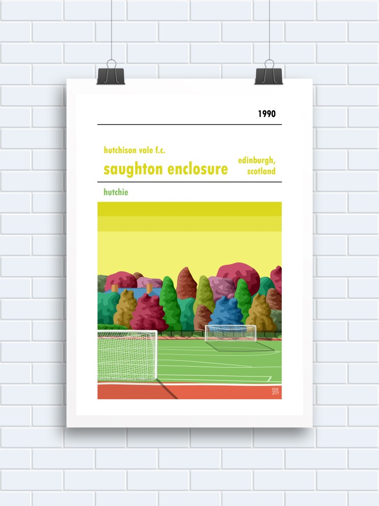 Saughton Enclosure Hutchison Vale Print