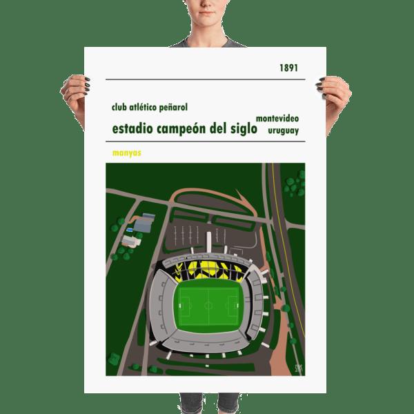 Massive football poster of Peñaro and Estadio Campeón del Siglo