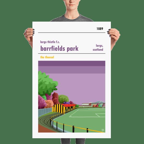 A large football stadium print of Largs Thistle