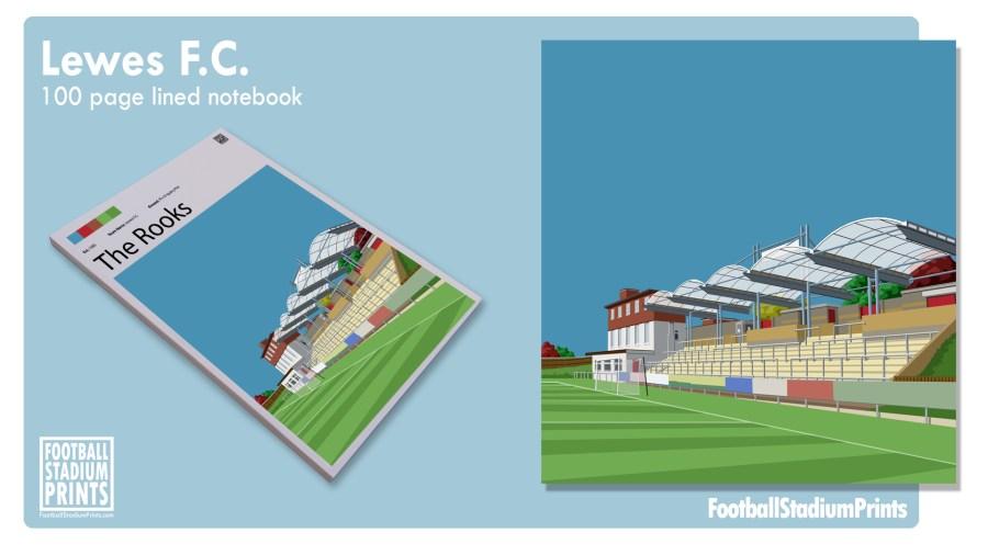 Lewes FC Football Print Notepad