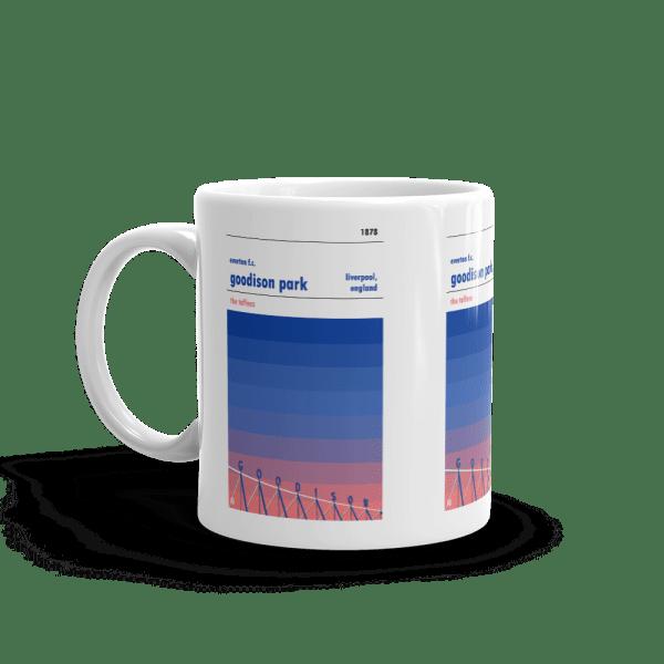 Everton and Goodison Park sunset Mug