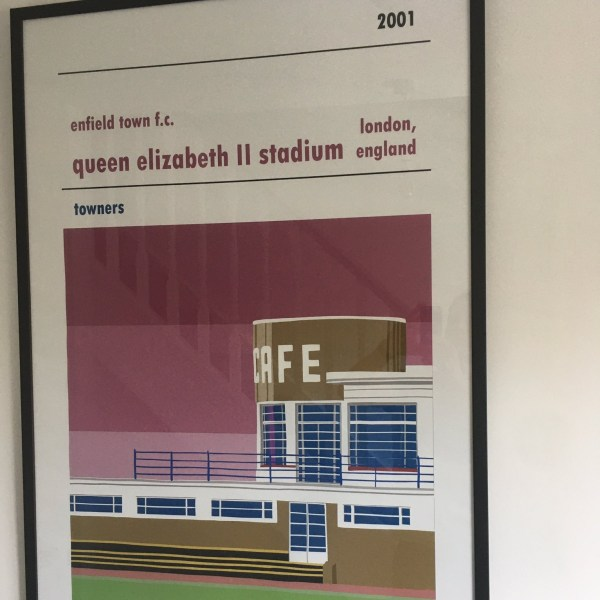 Football Print of Enfield Town FC and Donkey Lane