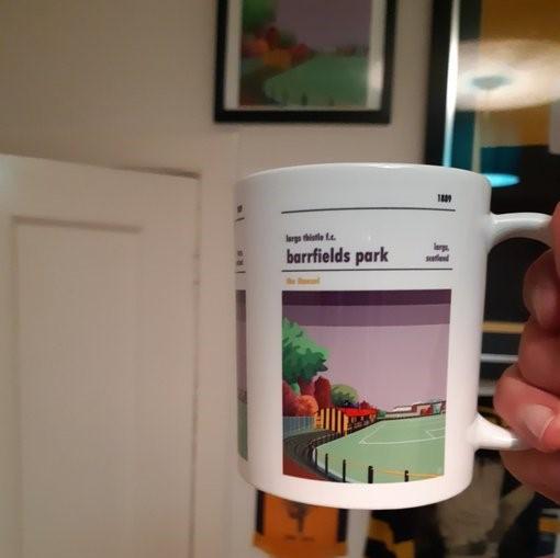 Football mug of Largs Thistle